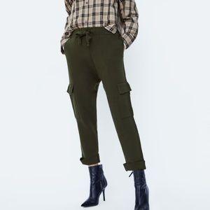 Zara olive green joggers pants